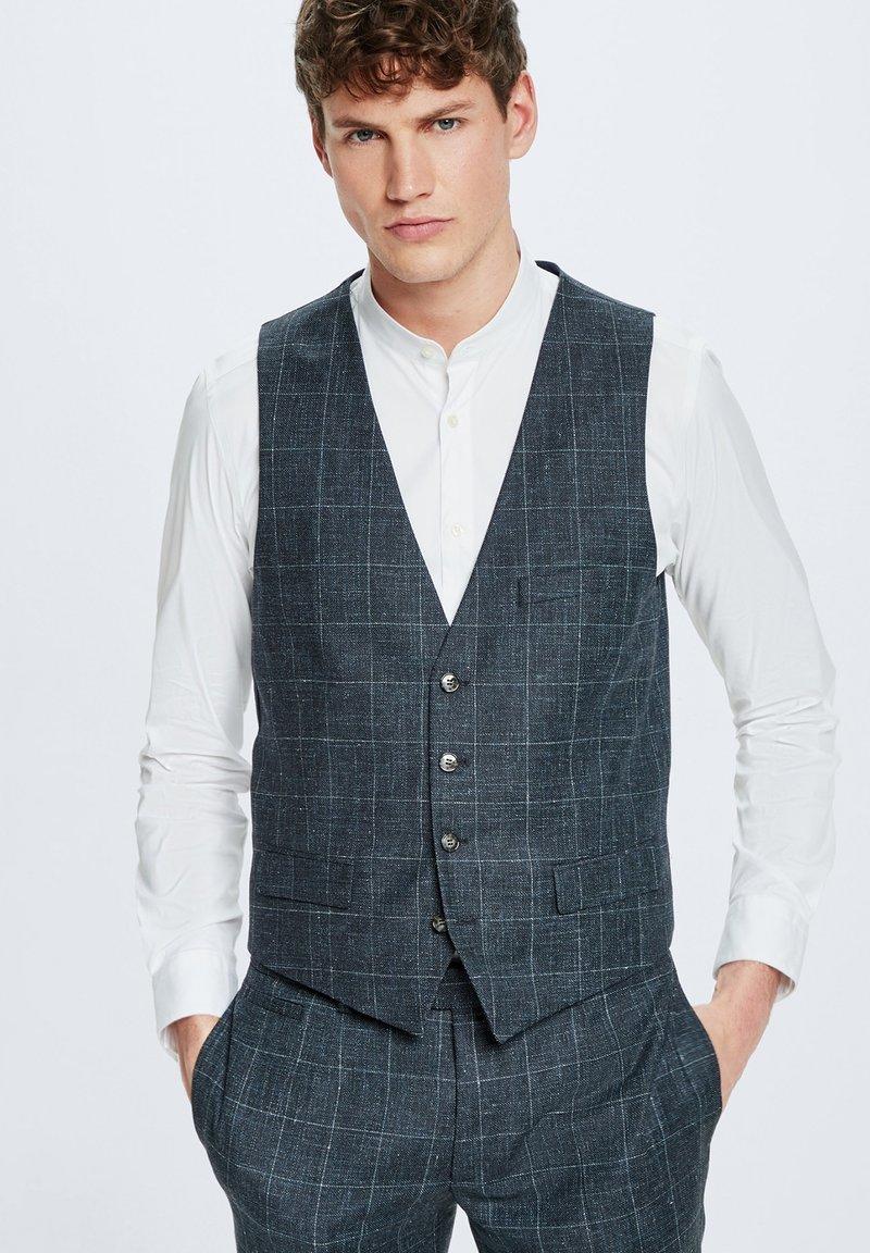 Strellson - GYL - Suit waistcoat - dunkelblau kariert