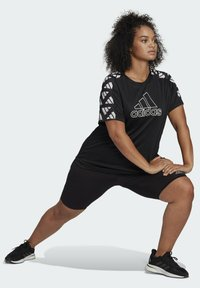 adidas Performance - OWN THE RUN CELEBRATION T-SHIRT (PLUS SIZE) - Print T-shirt - black - 3