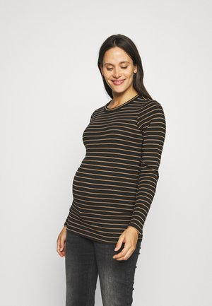 STRIPE - Long sleeved top - toasted coconut