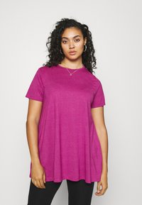 CAPSULE by Simply Be - SHORT SLEEVE SWING TUNICS 2 PACK - Print T-shirt - orchid - 3