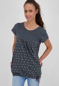 alife & kickin - SUMMERAK - Print T-shirt - marine - 0
