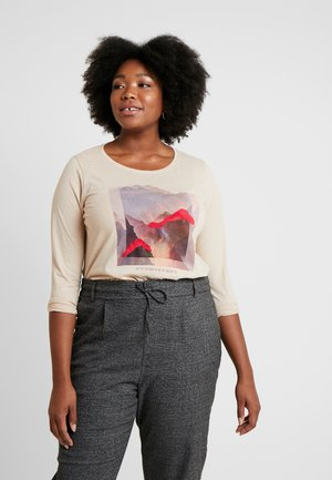 PRINT LONGSLEEVE - Topper langermet - light camel brown