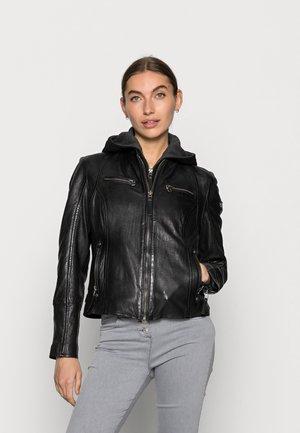 NOHLA - Leren jas - black