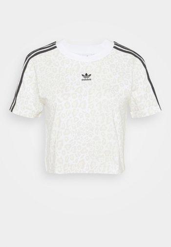 LEOPARD CROPPED TEE - T-shirt imprimé - multco/white/talc