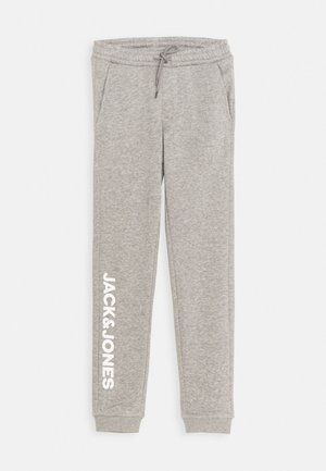 JJIGORDON SIDE SOFT PANTS - Pantalon de survêtement - light grey melange
