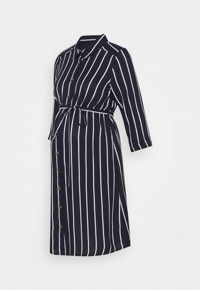 NURSING DRESS - Košilové šaty - navy blazer
