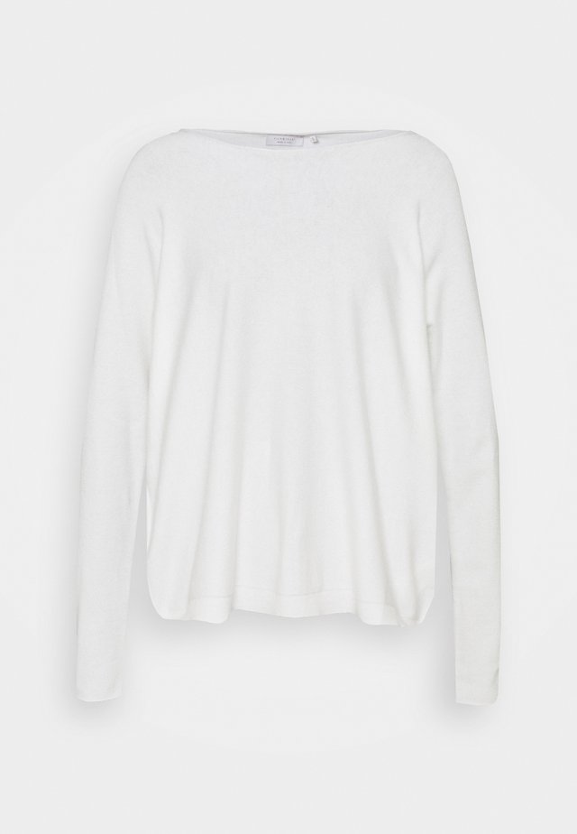 BOAT NECK SEAMLESS - Pullover - pearl white