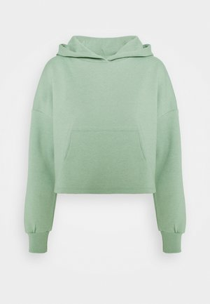 ONYFAVE LIFE CROPPED HOOD - Mikina - covert green