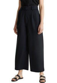 Esprit Collection - FASHION CULOTTE - Trousers - black - 3
