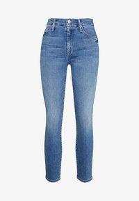 Mother - THE LOOKER CROP  - Skinny džíny - blue denim - 3
