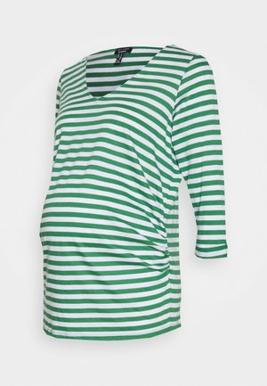 GREEN STRIPE - Long sleeved top - green pattern