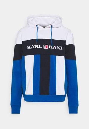 RETRO BLOCK HOODIE - Sweatshirt - blue