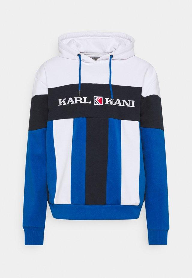 RETRO BLOCK HOODIE - Sweater - blue