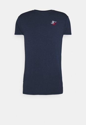 DUAL LOGO TEE - Basic T-shirt - navy