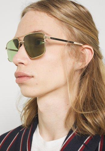 UNISEX - Sunglasses - gold-coloured/black/green