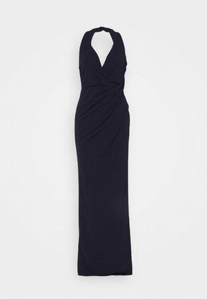 HALTER NECK DRESS - Gallakjole - navy blue