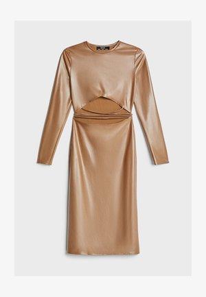 Koktejlové šaty/ šaty na párty - beige