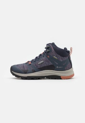 TERRADORA II MID WP - Hiking shoes - blue nights/redwood