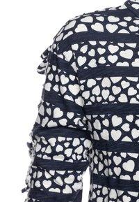 J.CREW - KIKI RUFFLE SLEEVE PRINTED - Print T-shirt - navy/ivory - 2