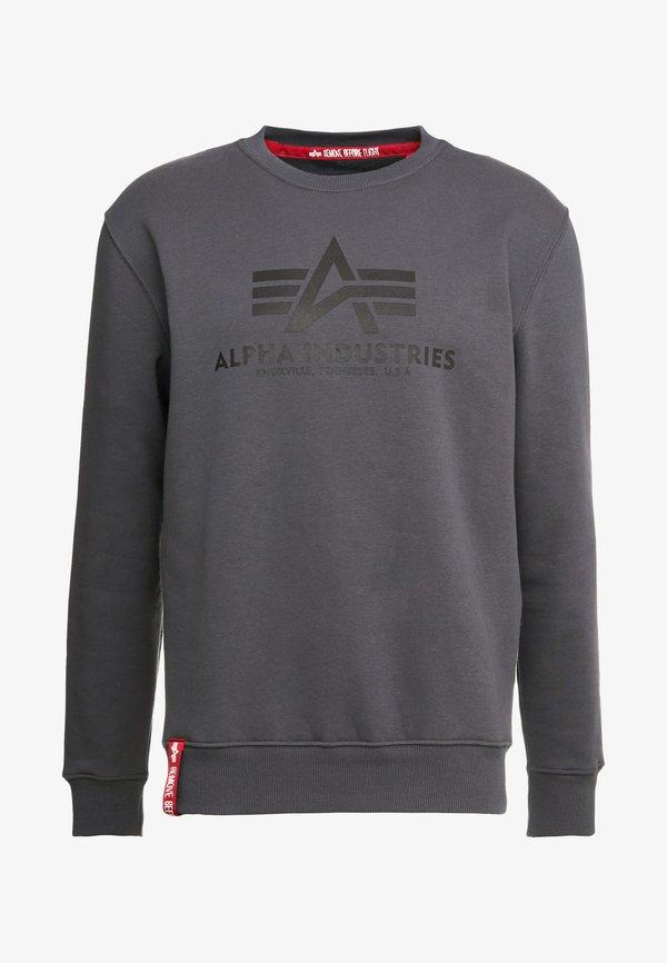 Alpha Industries BASIC - Bluza - greyblack/black/antracytowy Odzież Męska NBNT