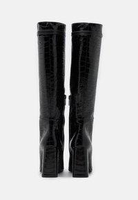 KARL LAGERFELD - LEG BOOT EXOTIK - Kozačky na vysokém podpatku - black - 3