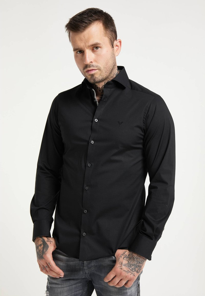 Carlo Colucci - BUSINESS-STRETCH - Formal shirt - schwarz
