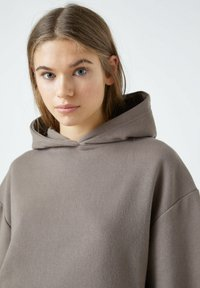 PULL&BEAR - Sweat à capuche - dark brown - 4