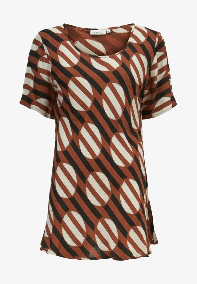 T-shirt med print - brown