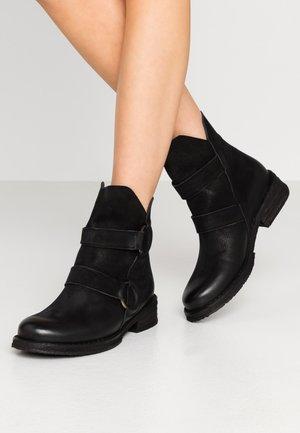 COOPER - Cowboy/biker ankle boot - morat black