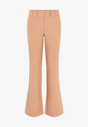 YASNUTEO FLARE PANT - Trousers - tawny brown
