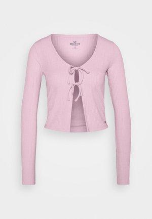 SLIM DOUBLE TIE - Cardigan - light pink
