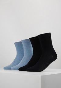 camano - SOFT SOCKS 4 PACK - Ponožky - navy - 0