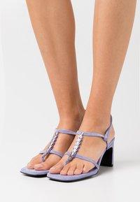 Dorateymur - NARCISSIST THONG  - T-bar sandals - violet - 0
