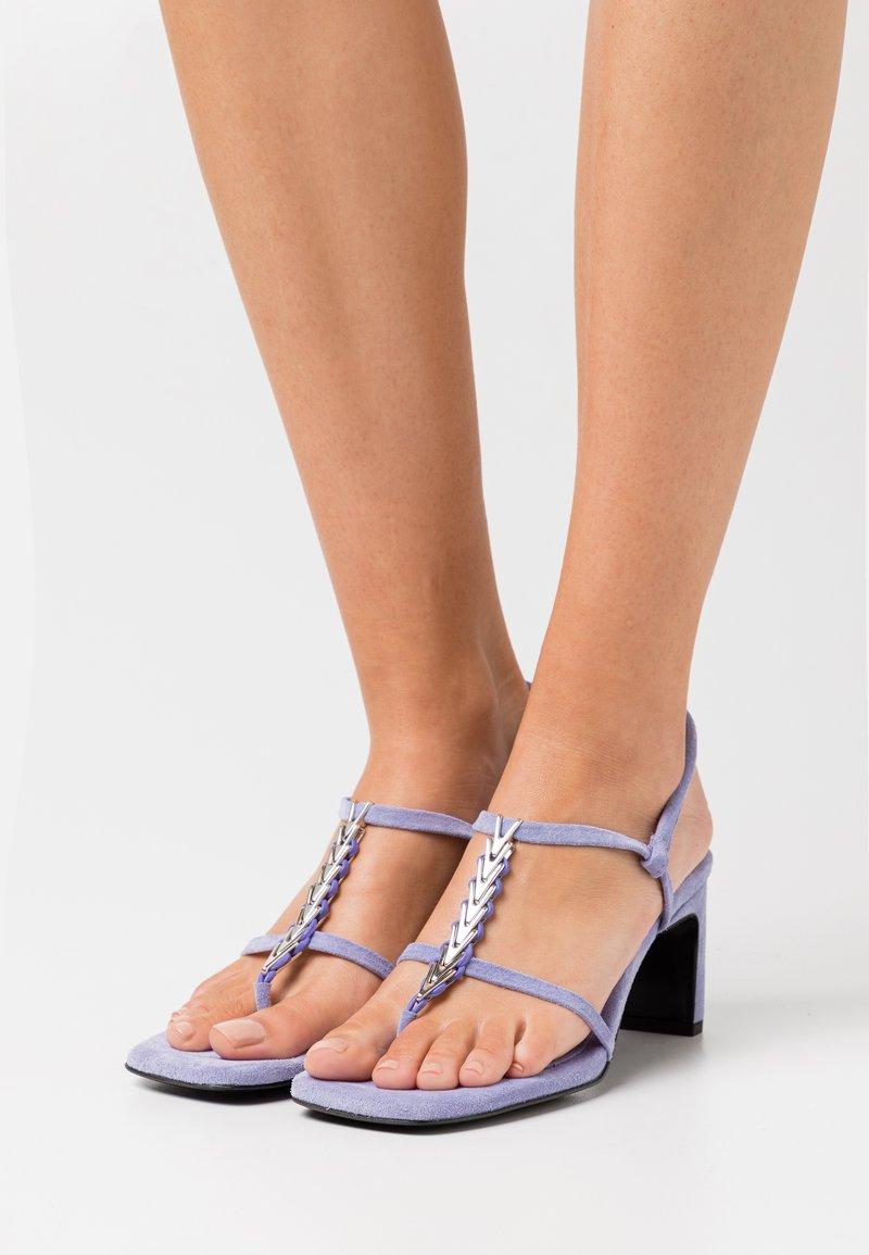 Dorateymur - NARCISSIST THONG  - T-bar sandals - violet