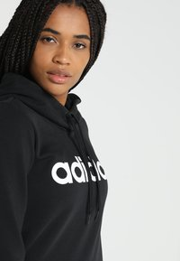 adidas Performance - ESSENTIALS LINEAR SPORT HODDIE - Hoodie - black - 4