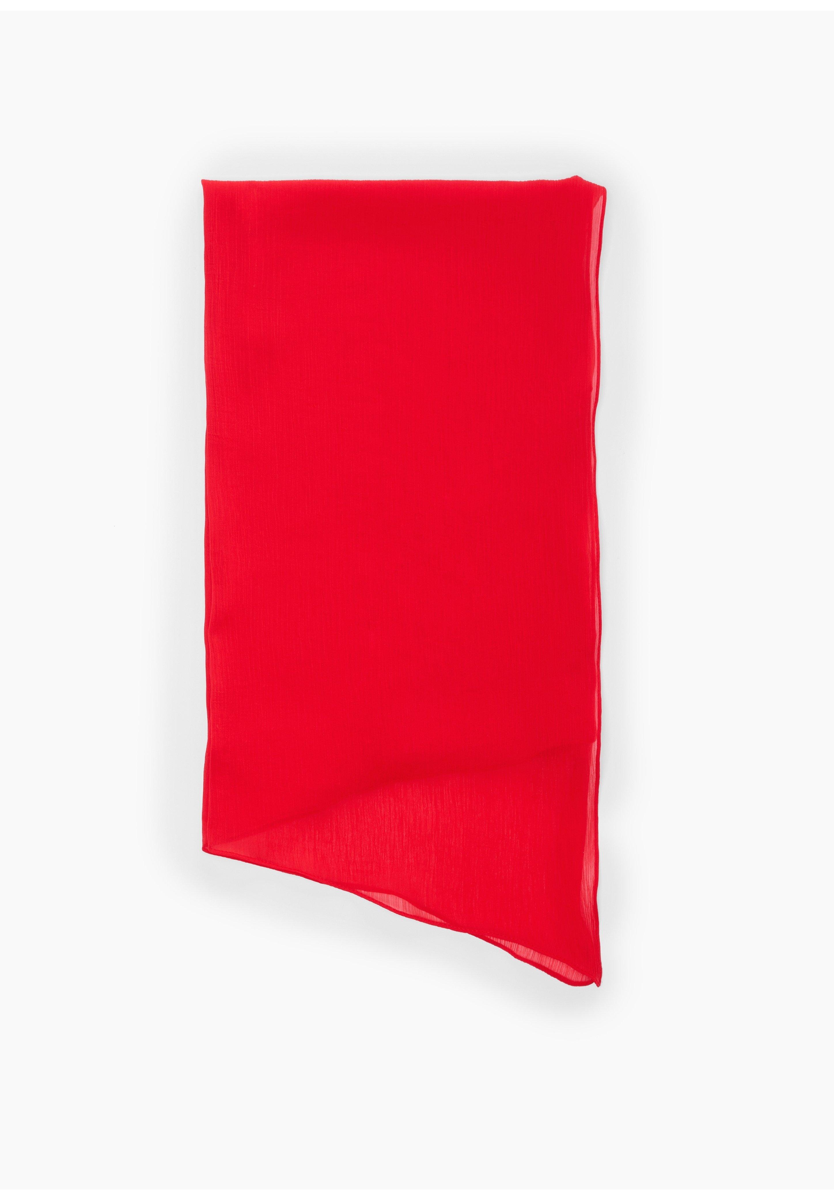 S.oliver Crêpe-schal Mit Crinkle-effekt - Schal Red/rot
