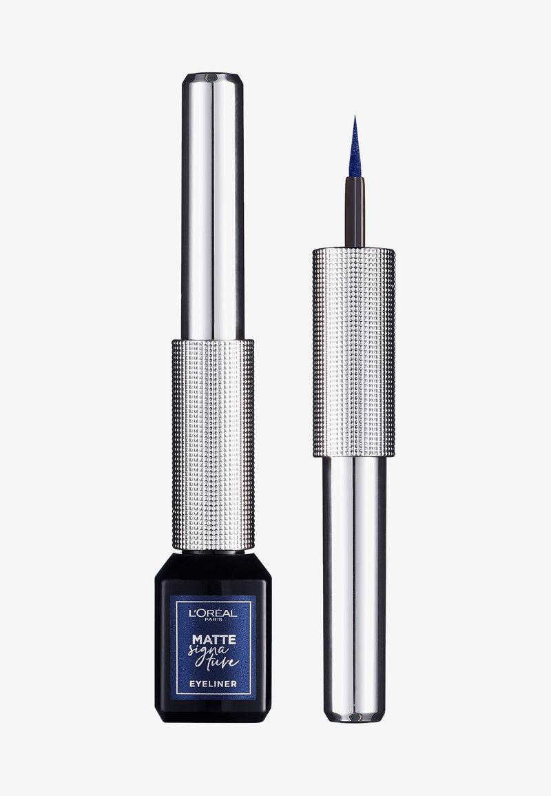 L'Oréal Paris - MATTE SIGNATURE EYELINER - Eyeliner - 11 navy metal