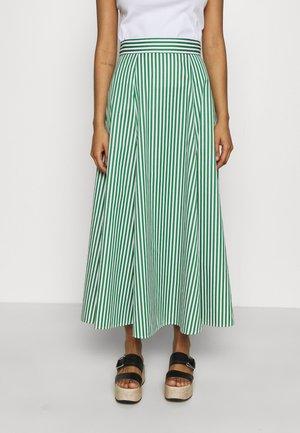 STRIPED SKIRTANCLE LENGTH - Maxi skirt - secret garden green