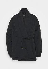 TIE BREAK JACKET - Sportovní bunda - black