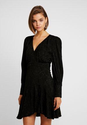 WRAP MINI DRESS - Kjole - black