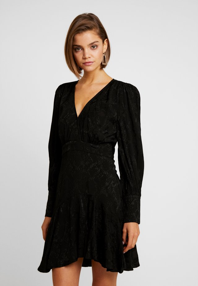 WRAP MINI DRESS - Day dress - black