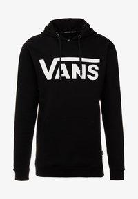 Vans - CLASSIC - Bluza z kapturem - black/white - 4