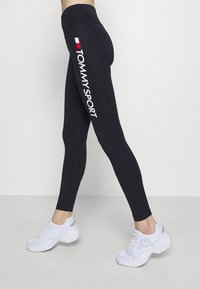 Tommy Hilfiger - LEGGING HIGHWAIST LOGO - Tights - blue