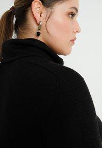 ADIA - ROLLNECK DRESS LONG SLEEVES - Neulemekko - black - 4