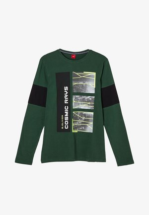 Long sleeved top - green melange