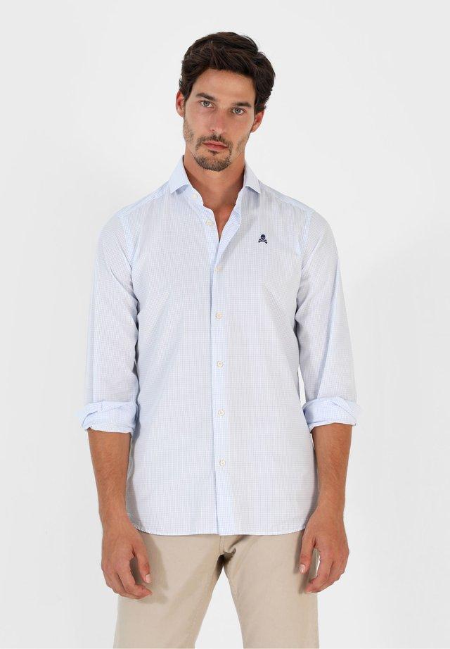Camisa - light blue check