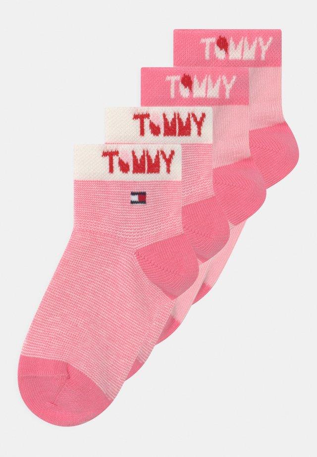 WORDING 4 PACK UNISEX - Socks - pink