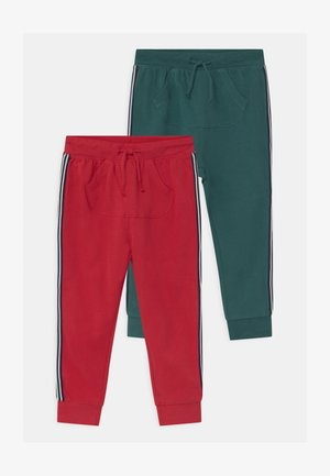 2 PACK - Stoffhose - tango red/forest biome
