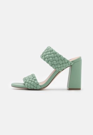 TANGLE - Heeled mules - mint