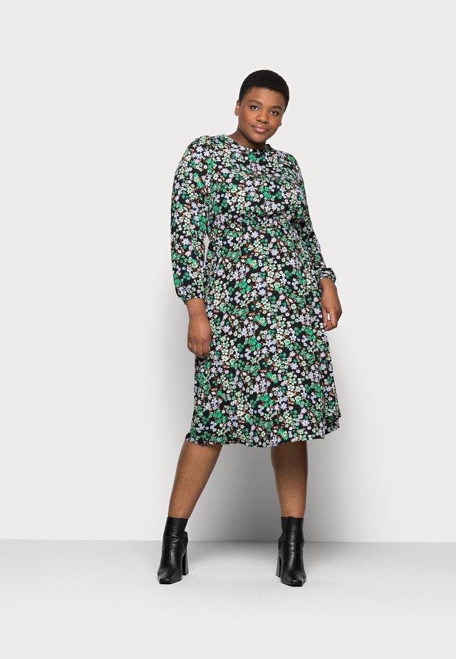 CARANEMONY CALF DRESS - Vapaa-ajan mekko - black